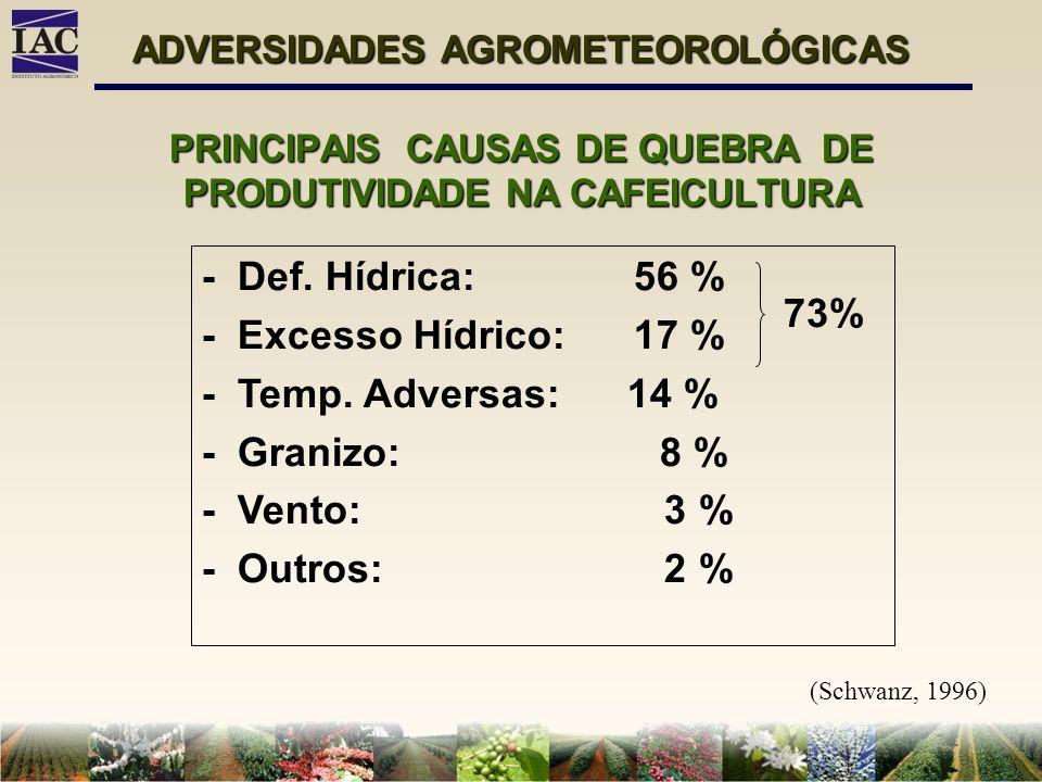 PRINCIPAIS CAUSAS DE QUEBRA DE PRODUTIVIDADE NA CAFEICULTURA