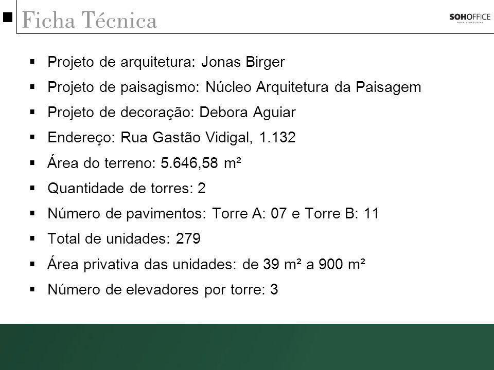 Ficha Técnica Projeto de arquitetura: Jonas Birger