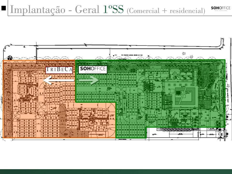 Implantação - Geral 1ºSS (Comercial + residencial)