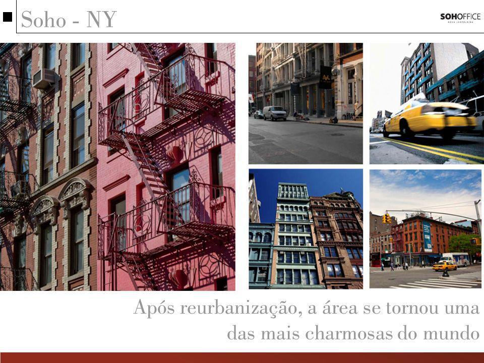 Soho - NY Após reurbanização, a área se tornou uma das mais charmosas do mundo
