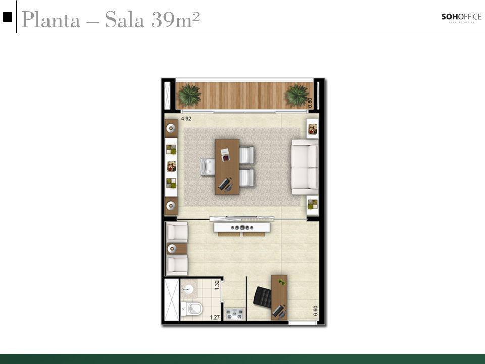 Planta – Sala 39m²