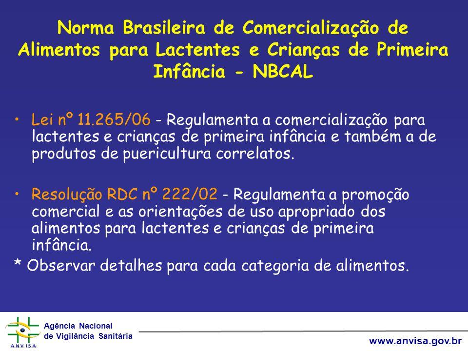 Norma Brasileira de Comercialização de Alimentos para Lactentes e Crianças de Primeira Infância - NBCAL