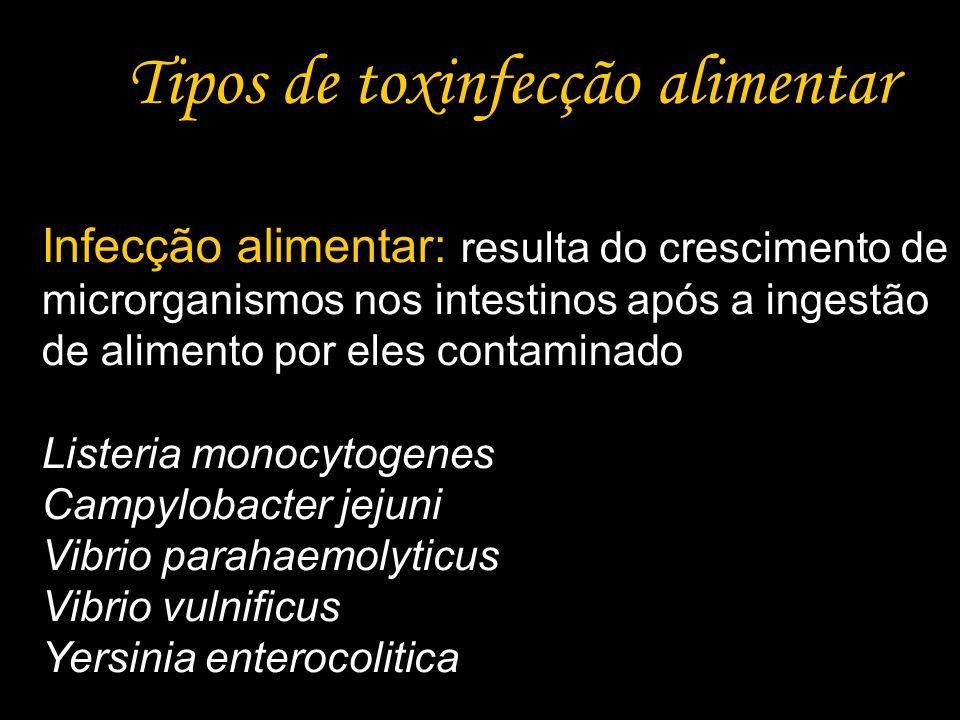 Tipos de toxinfecção alimentar