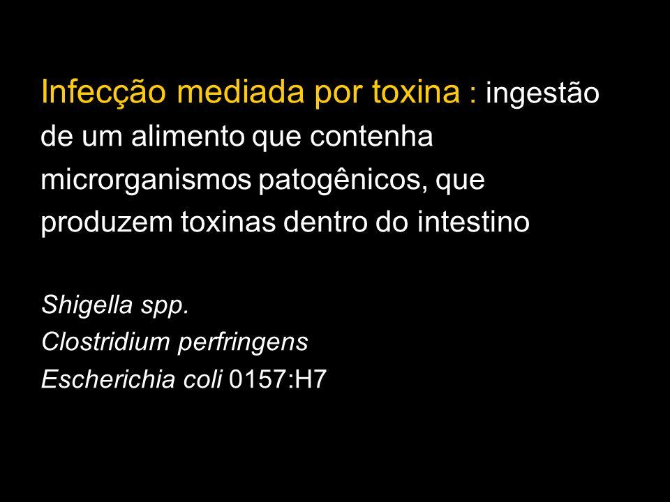 Infecção mediada por toxina : ingestão