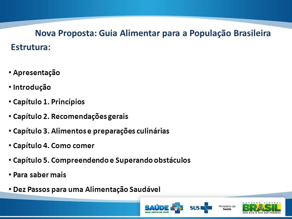 Nova Proposta: Guia Alimentar para a População Brasileira