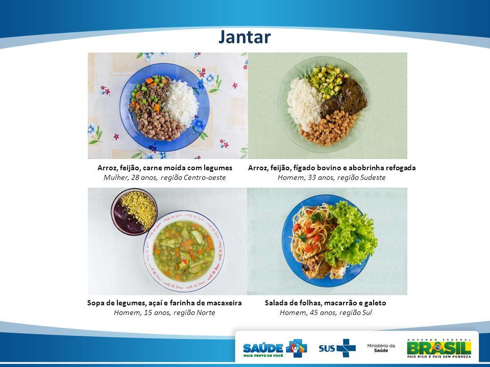 Jantar Arroz, feijão, carne moída com legumes