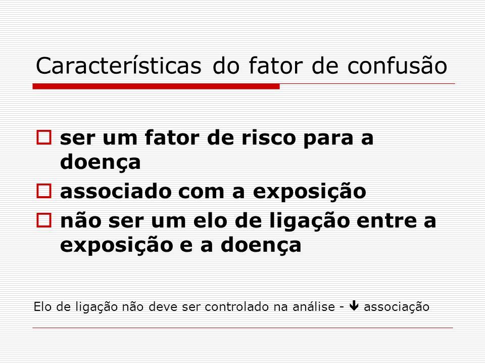 Características do fator de confusão