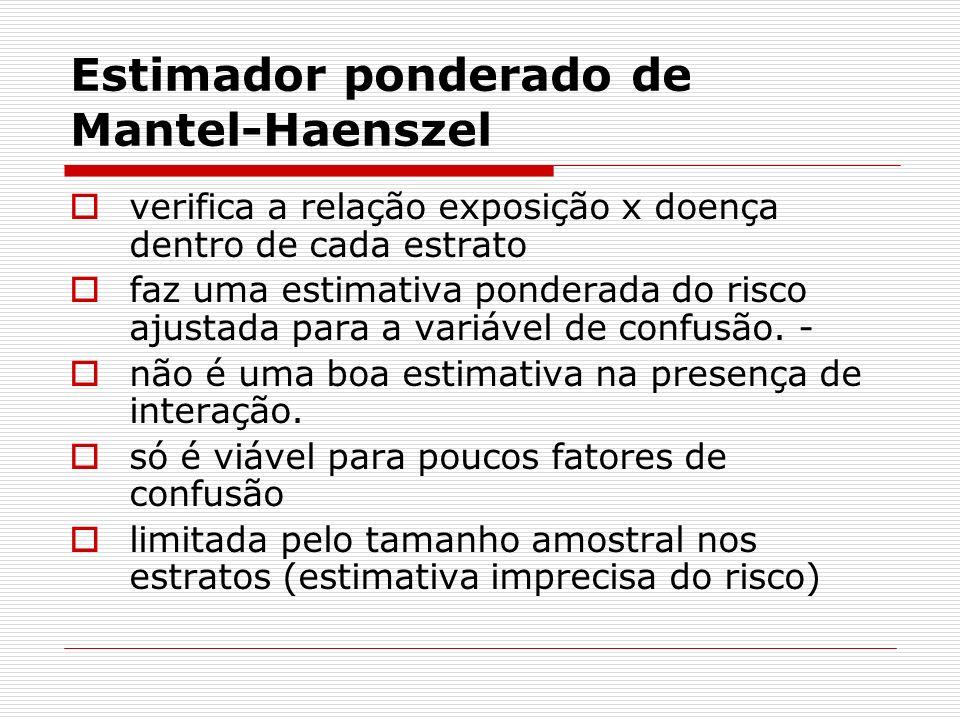 Estimador ponderado de Mantel-Haenszel