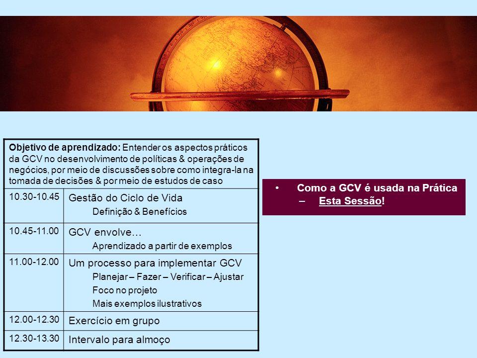 Um processo para implementar GCV