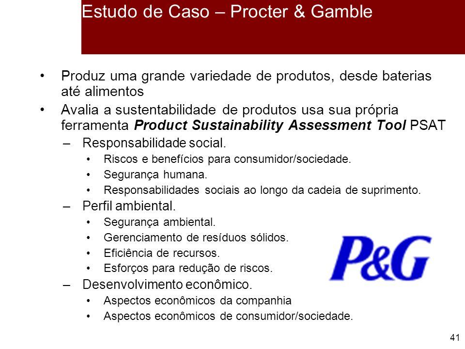 Estudo de Caso – Procter & Gamble