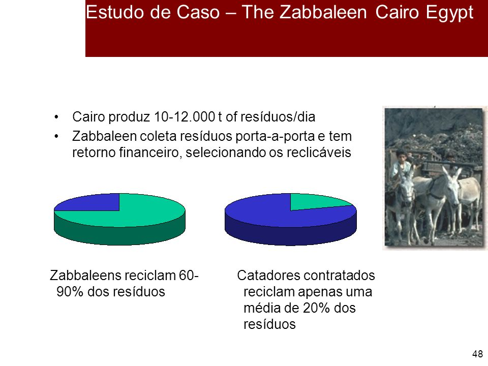 Estudo de Caso – The Zabbaleen Cairo Egypt
