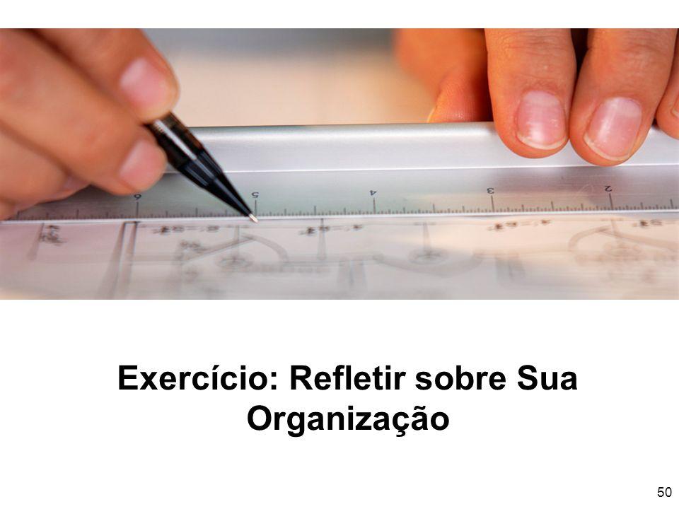 Exercício: Refletir sobre Sua Organização