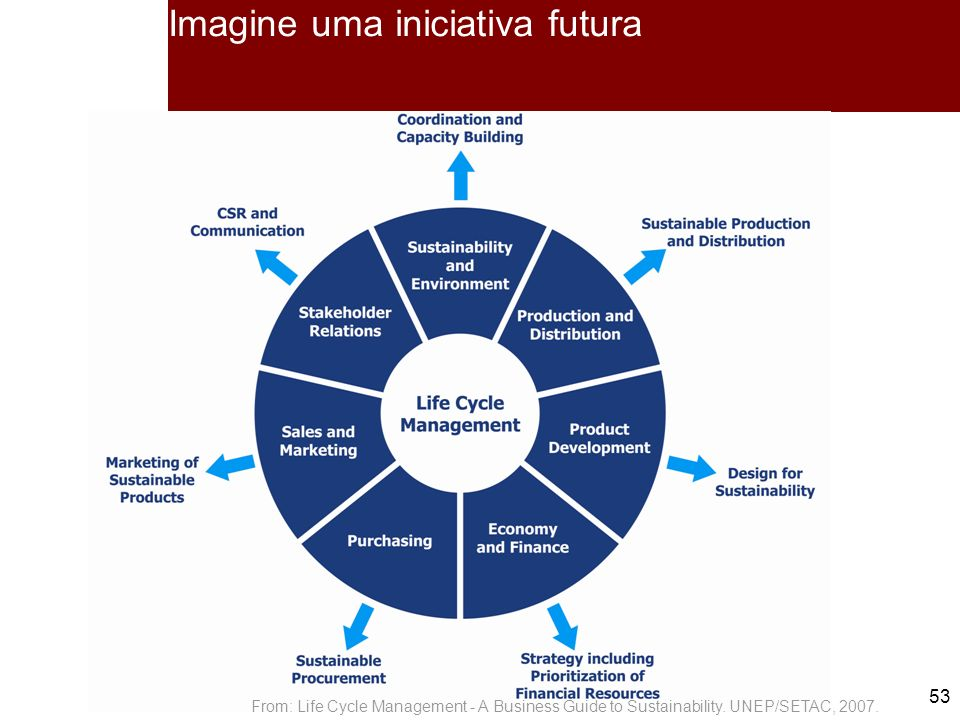 Imagine uma iniciativa futura