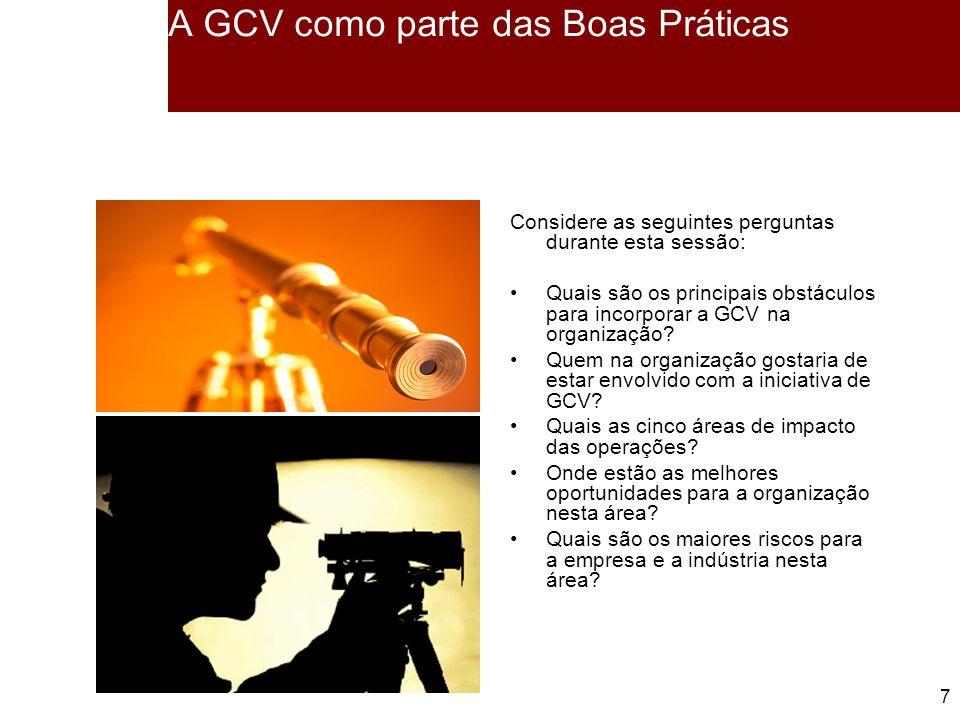 A GCV como parte das Boas Práticas