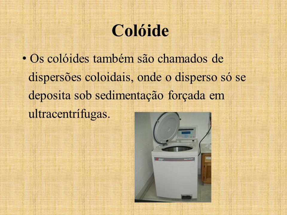 Colóide Os colóides também são chamados de