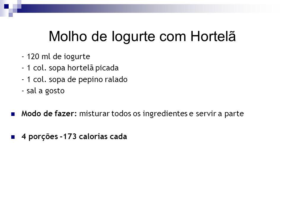 Molho de Iogurte com Hortelã