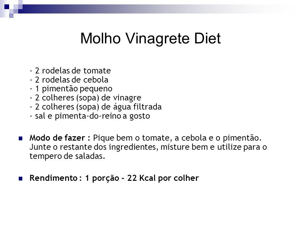 Molho Vinagrete Diet