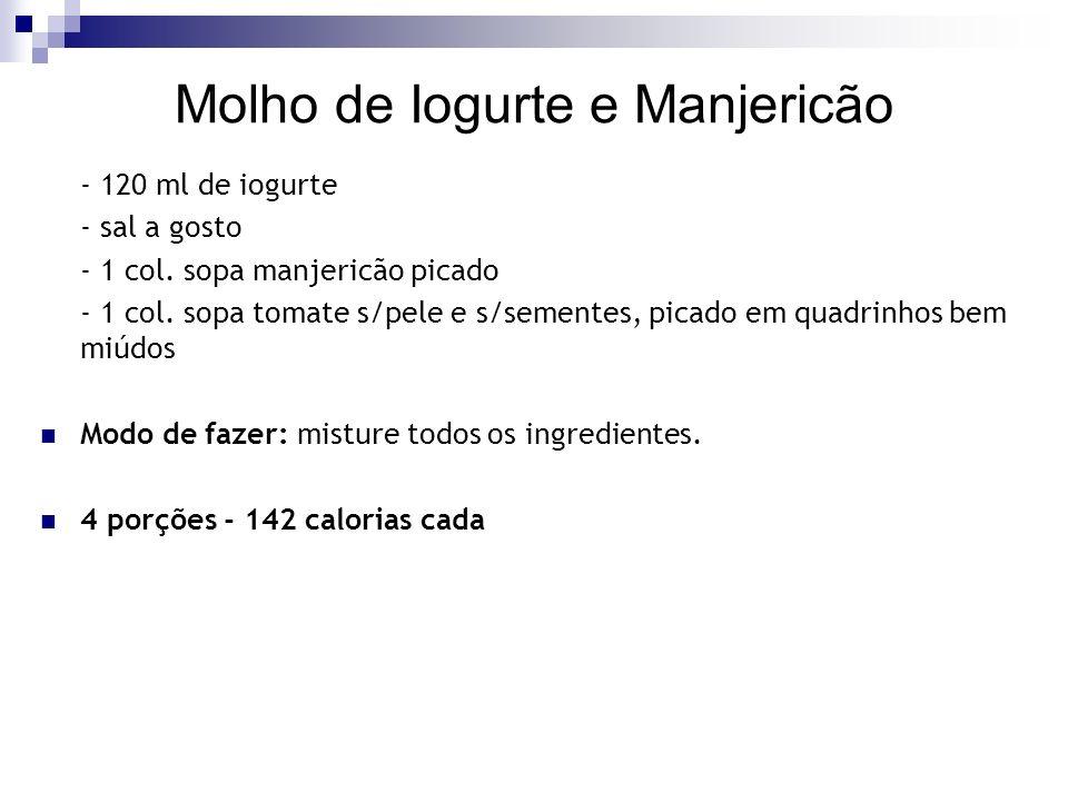 Molho de Iogurte e Manjericão
