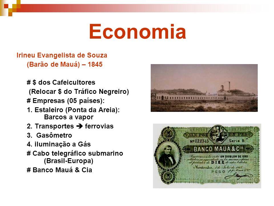 Economia Irineu Evangelista de Souza (Barão de Mauá) – 1845