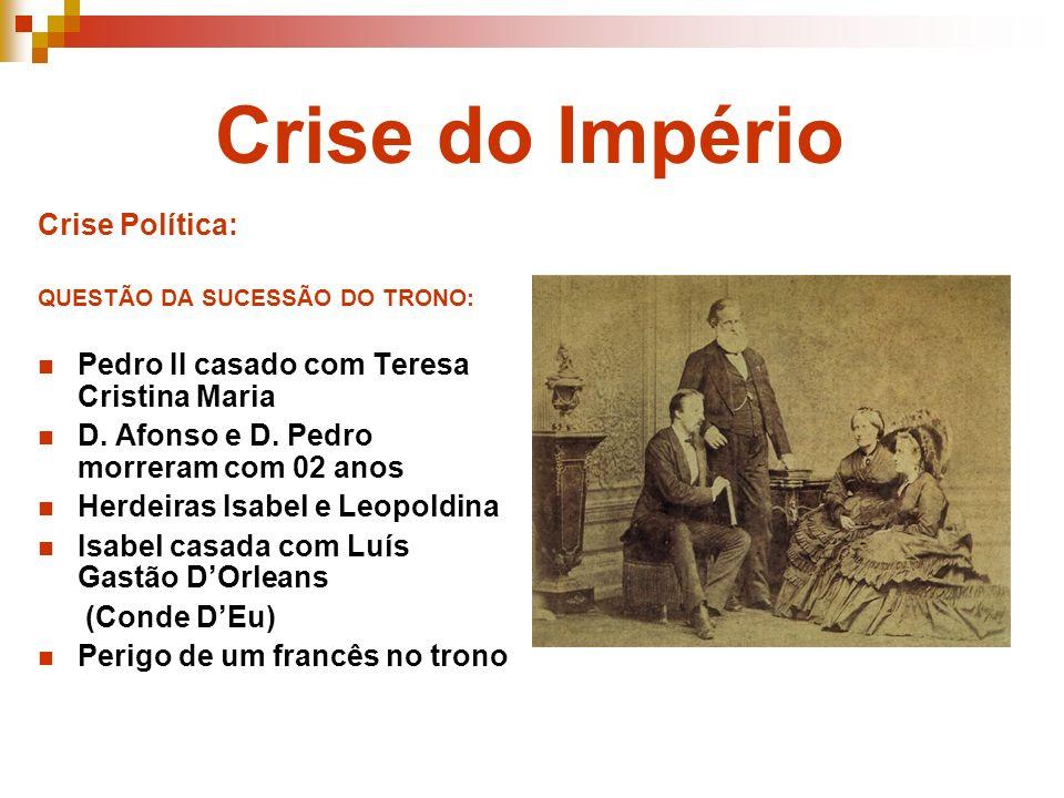 Crise do Império Crise Política:
