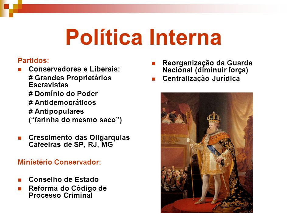 Política Interna Partidos: