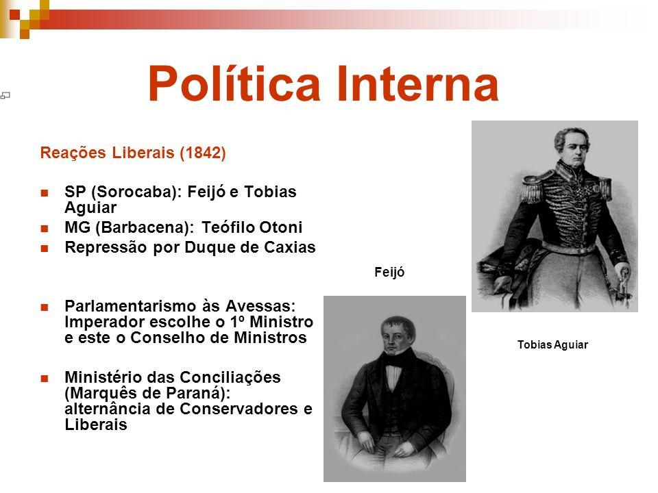 Política Interna Reações Liberais (1842)
