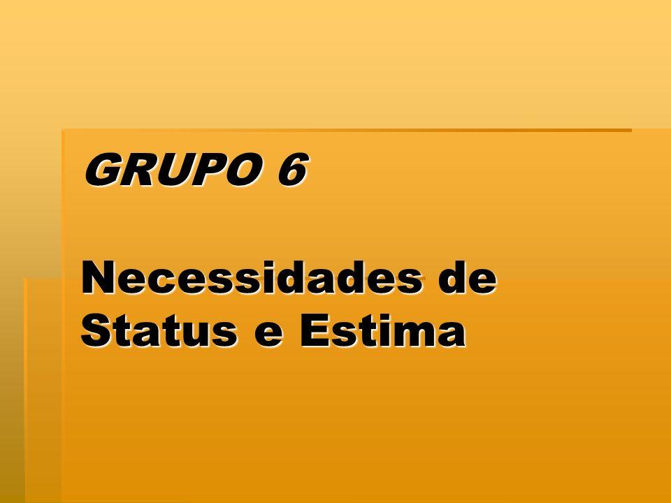 GRUPO 6 Necessidades de Status e Estima