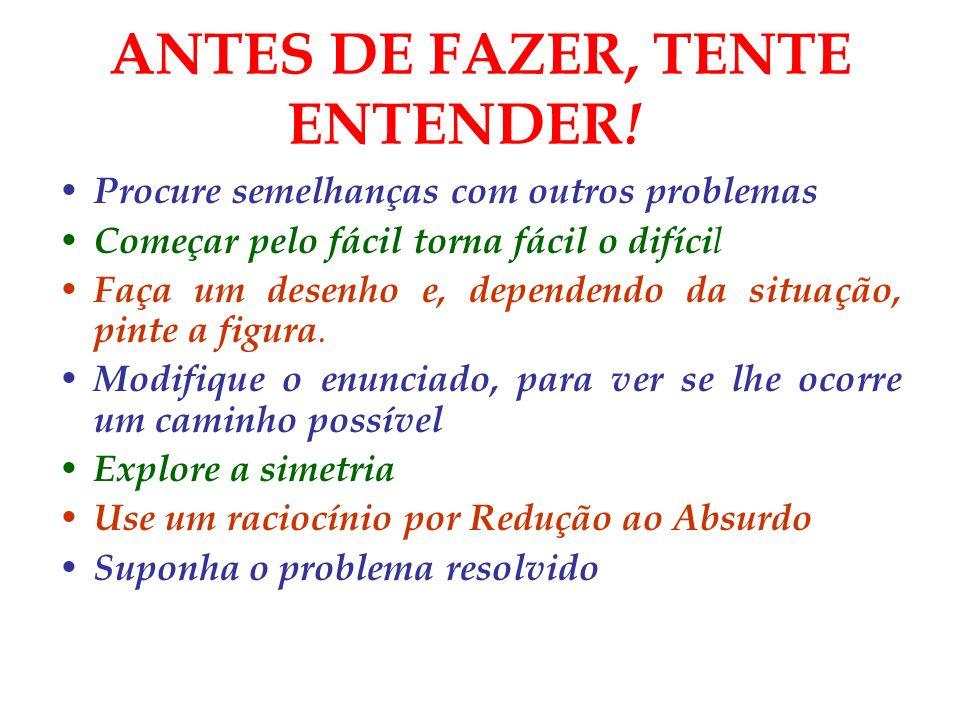 ANTES DE FAZER, TENTE ENTENDER!