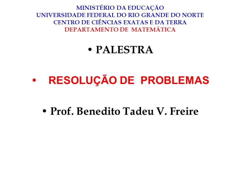 Prof. Benedito Tadeu V. Freire
