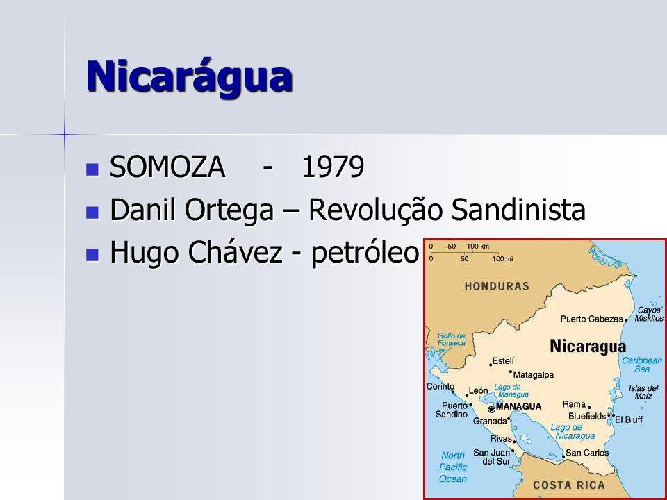 Nicarágua SOMOZA - 1979 Danil Ortega – Revolução Sandinista