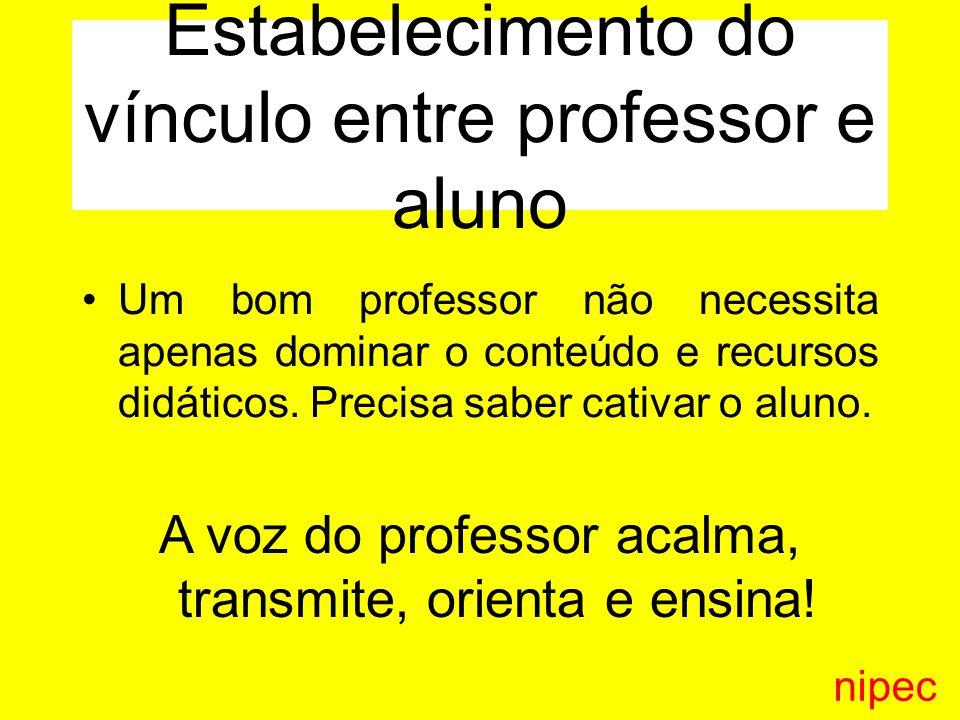 Estabelecimento do vínculo entre professor e aluno