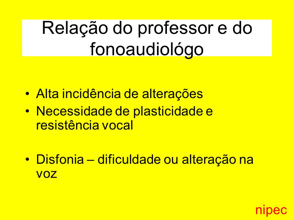Relação do professor e do fonoaudiológo