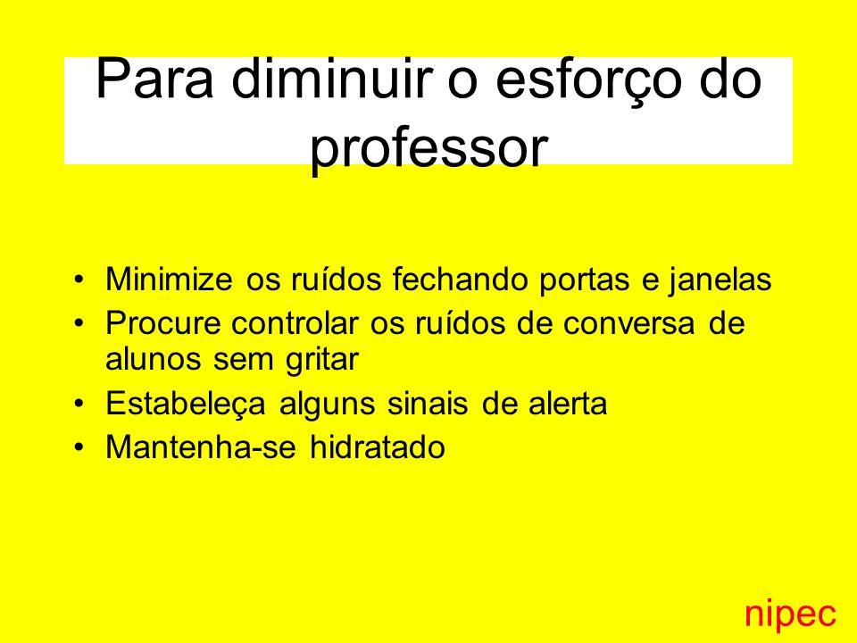 Para diminuir o esforço do professor