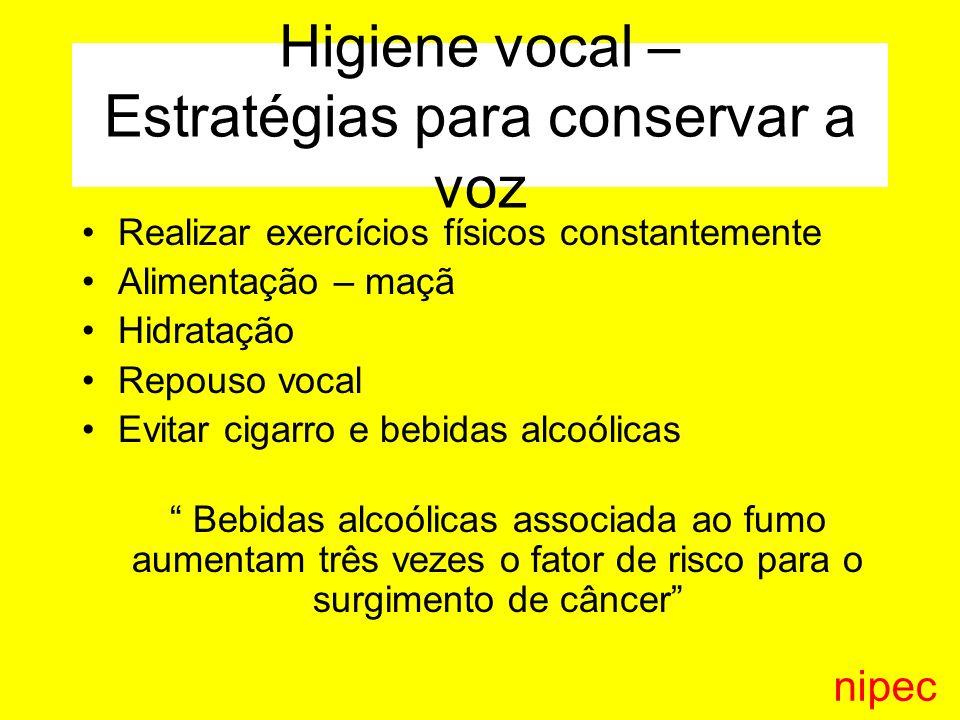 Higiene vocal – Estratégias para conservar a voz