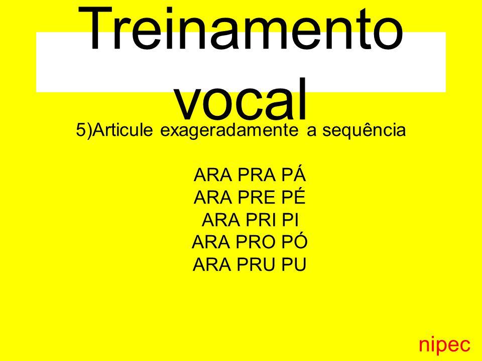 Treinamento vocal nipec