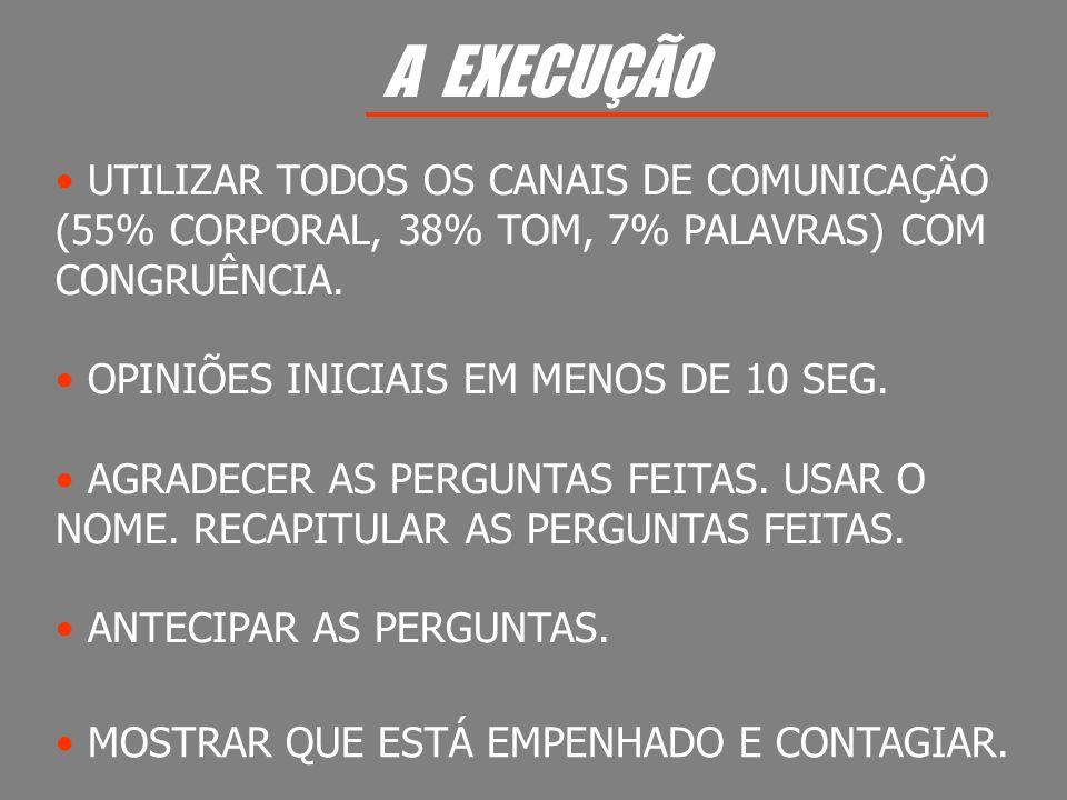 A EXECUÇÃO UTILIZAR TODOS OS CANAIS DE COMUNICAÇÃO