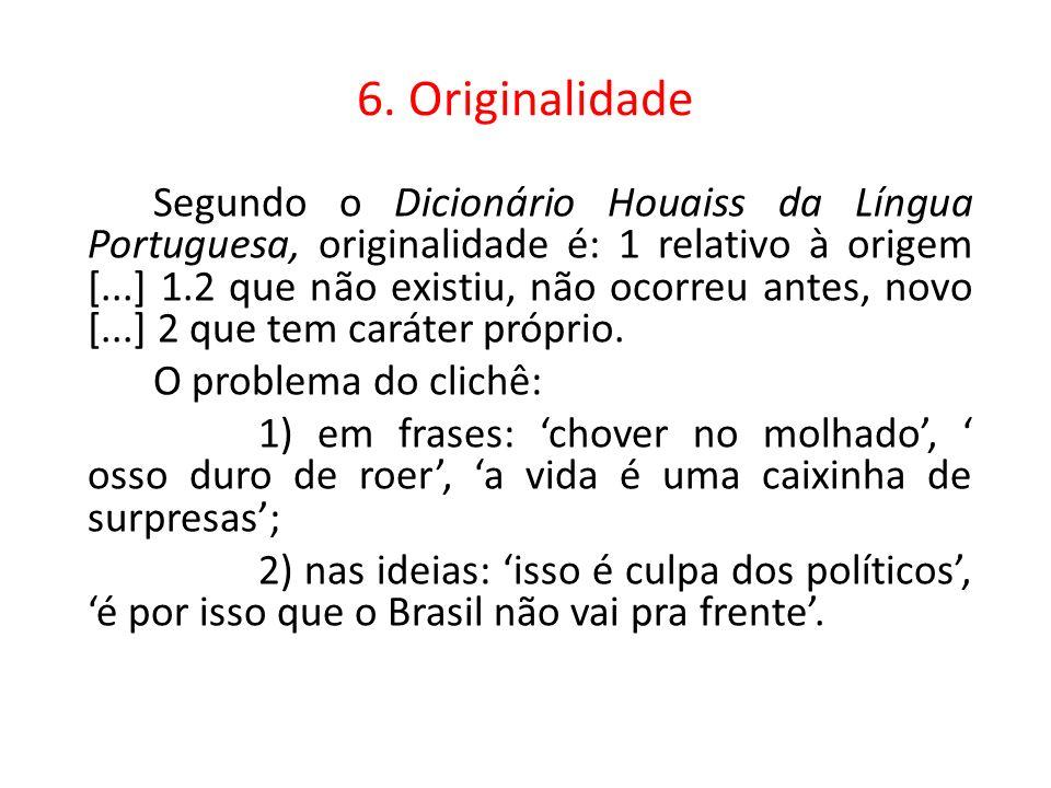 6. Originalidade