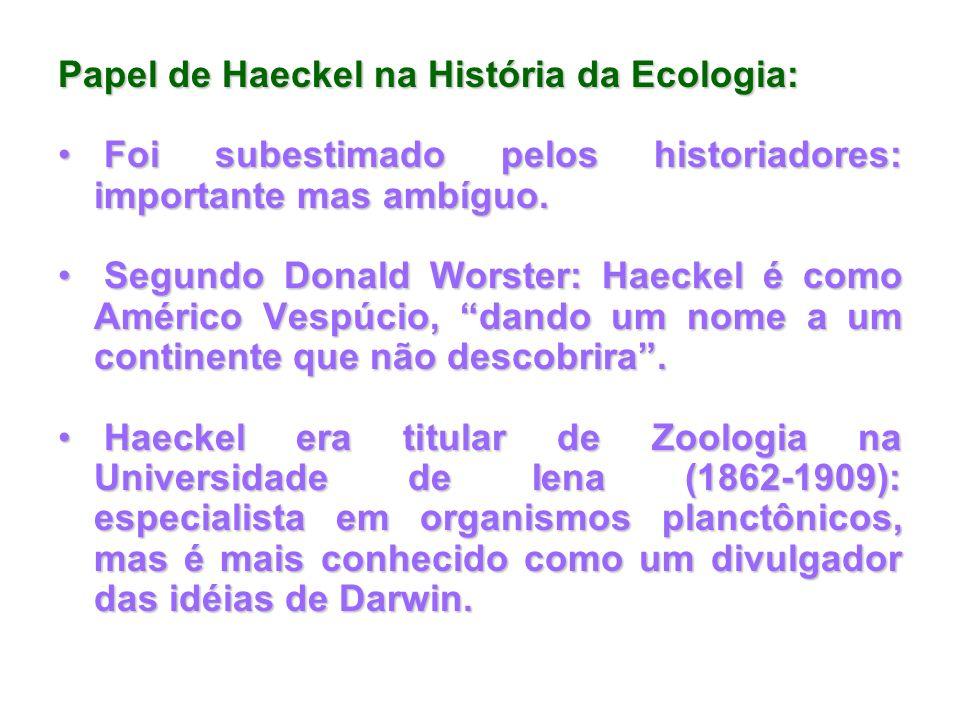 Papel de Haeckel na História da Ecologia: