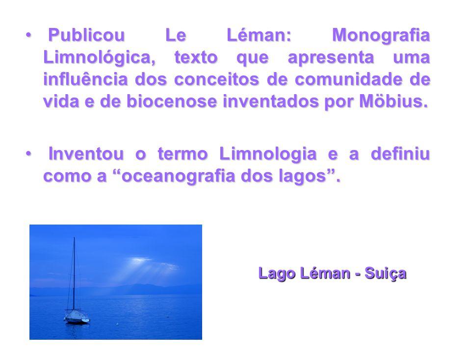 Publicou Le Léman: Monografia Limnológica, texto que apresenta uma influência dos conceitos de comunidade de vida e de biocenose inventados por Möbius.