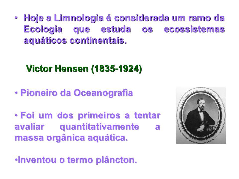 Hoje a Limnologia é considerada um ramo da Ecologia que estuda os ecossistemas aquáticos continentais.