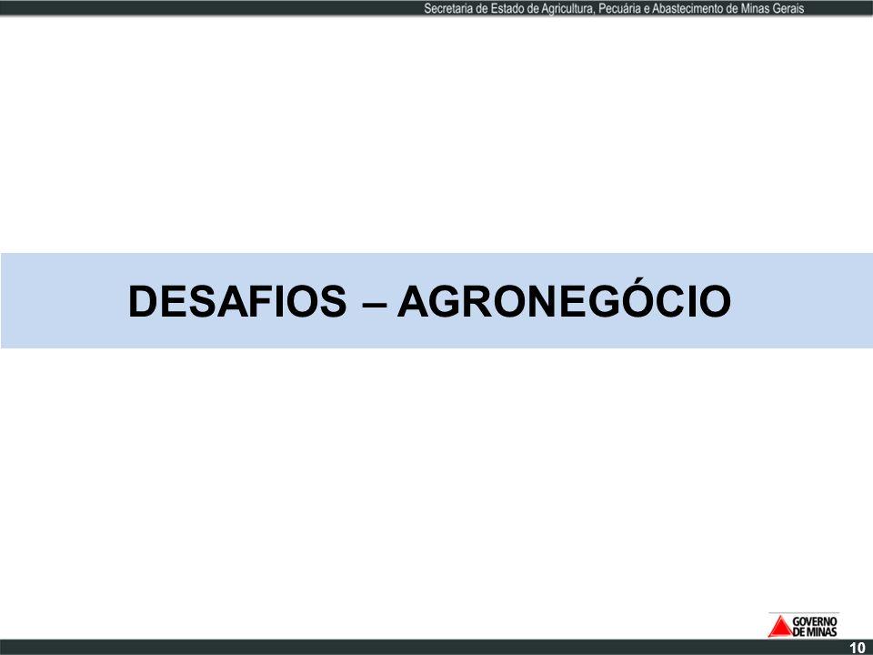 DESAFIOS – AGRONEGÓCIO