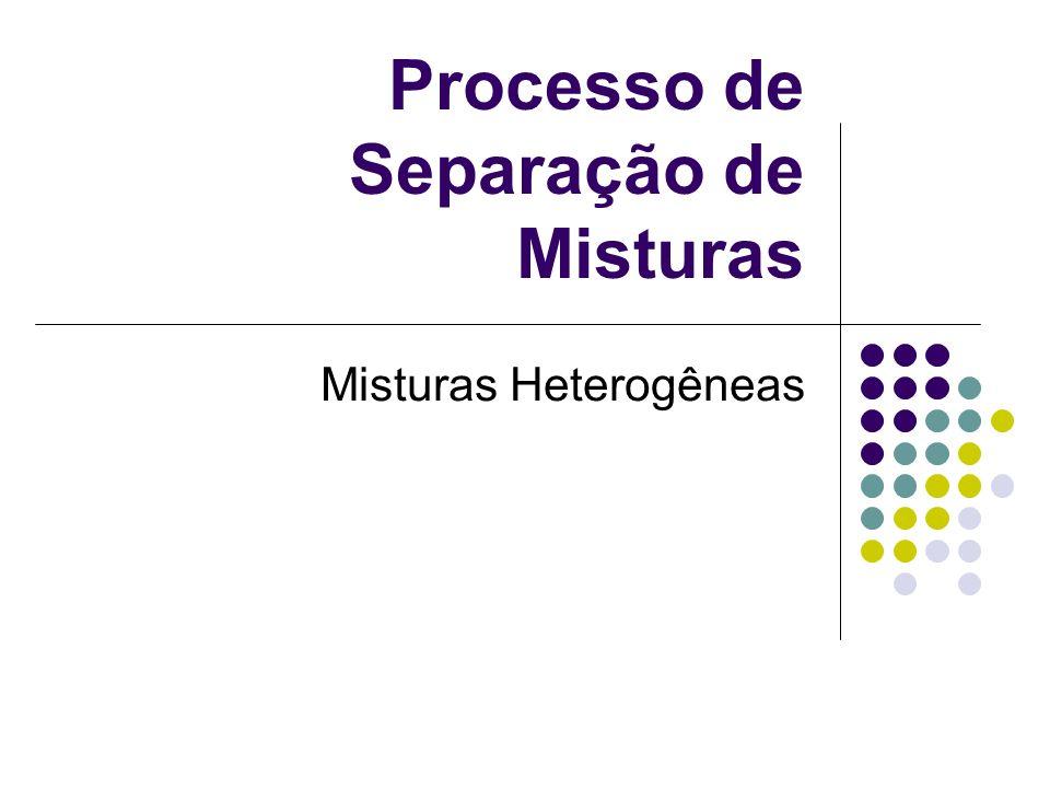 Processo de Separação de Misturas