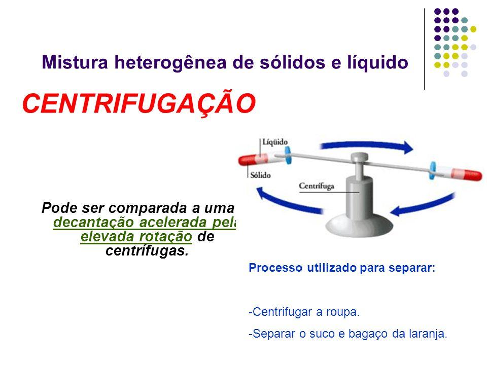 Mistura heterogênea de sólidos e líquido