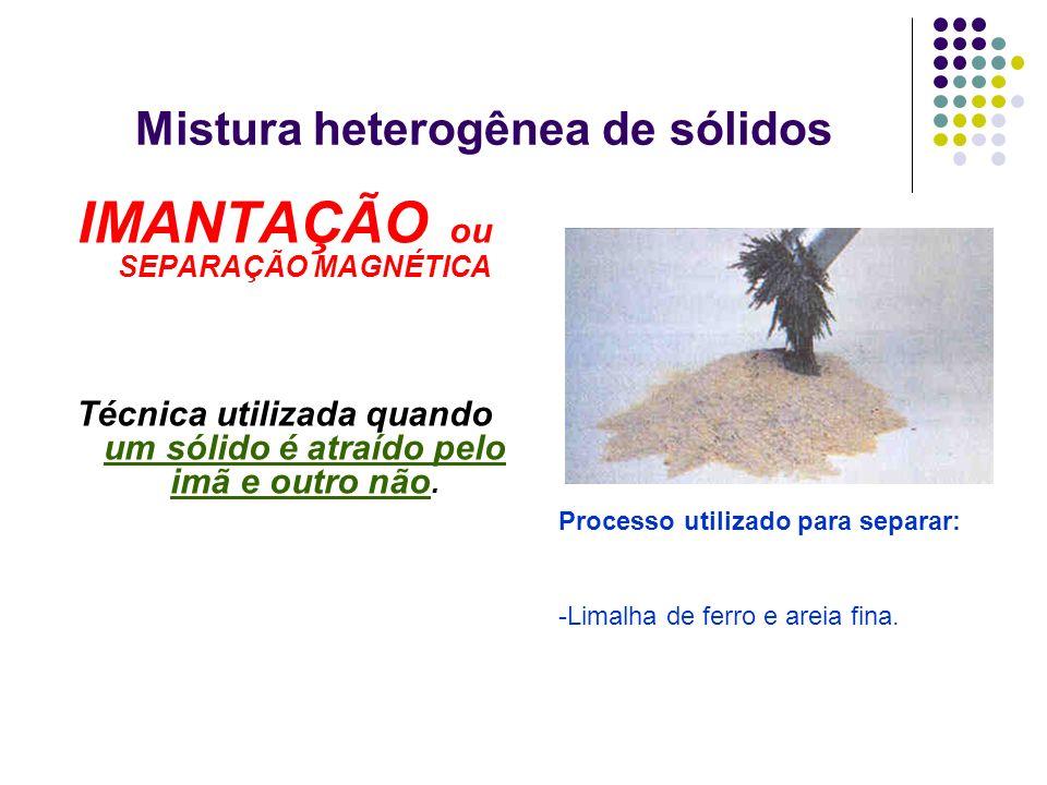 Mistura heterogênea de sólidos