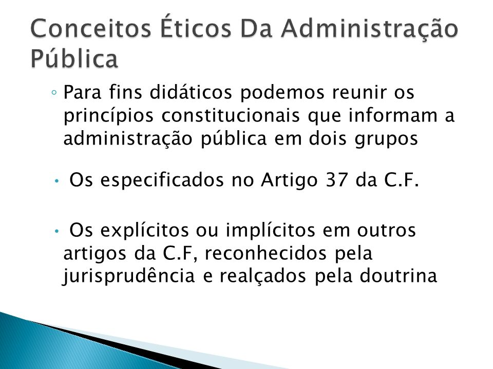 Conceitos Éticos Da Administração Pública