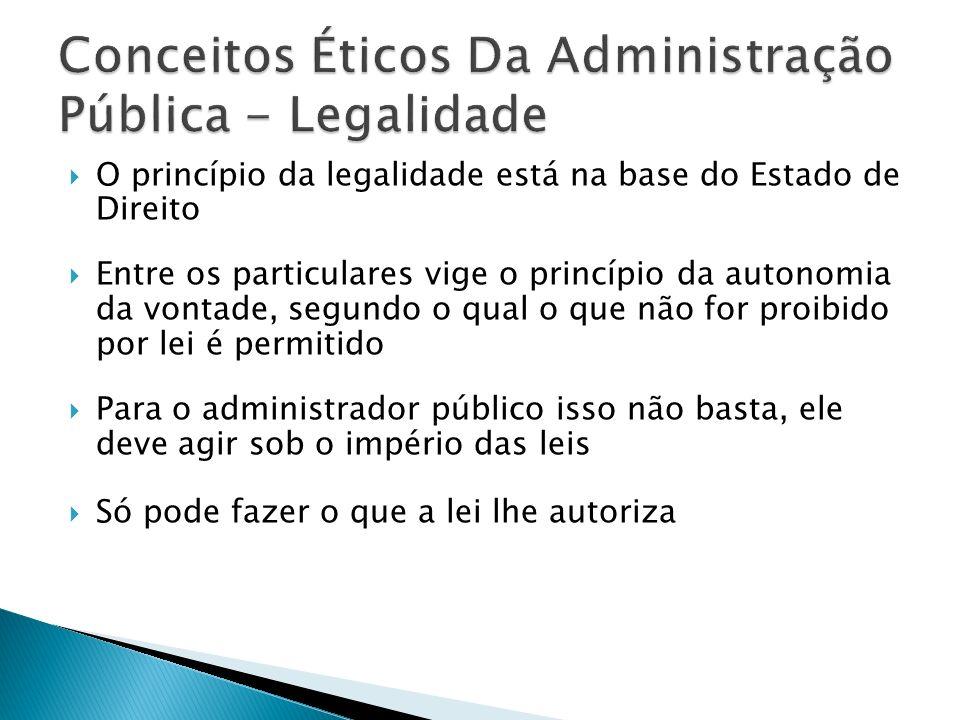 Conceitos Éticos Da Administração Pública - Legalidade