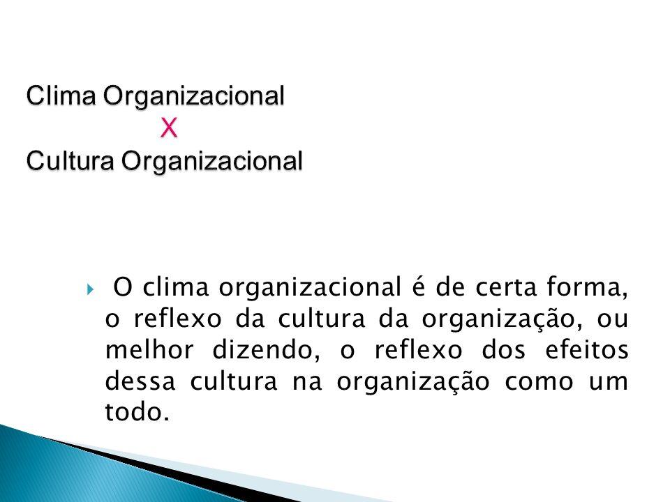 Clima Organizacional X Cultura Organizacional