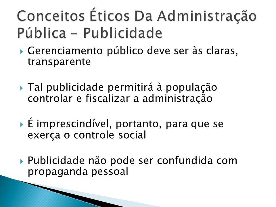 Conceitos Éticos Da Administração Pública - Publicidade