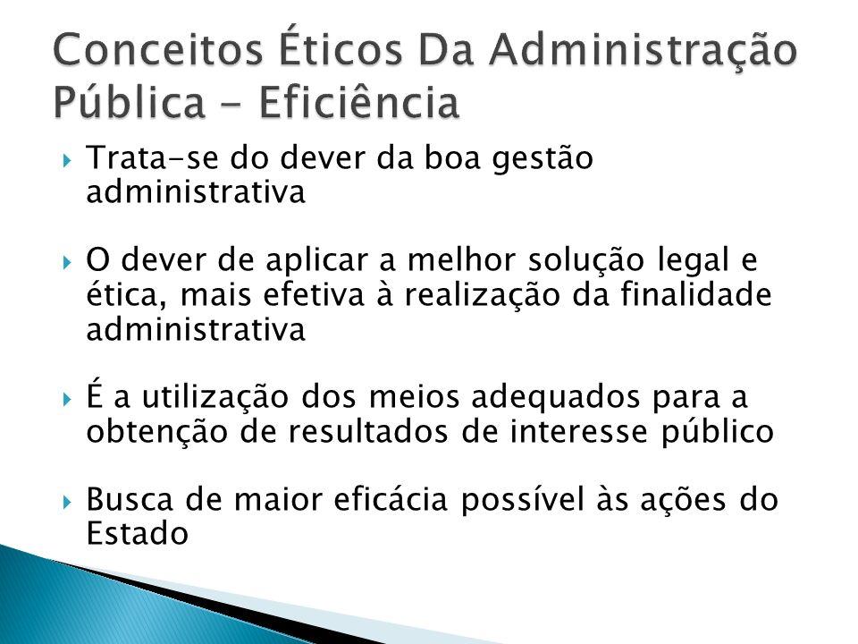 Conceitos Éticos Da Administração Pública - Eficiência