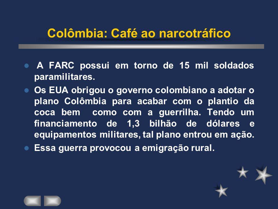 Colômbia: Café ao narcotráfico